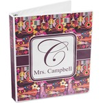 Abstract Music 3-Ring Binder (Personalized)