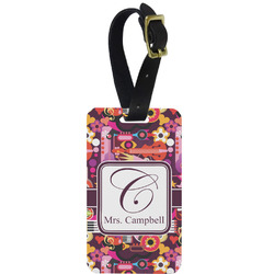 Abstract Music Aluminum Luggage Tag (Personalized)