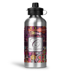 Abstract Music Water Bottle - Aluminum - 20 oz (Personalized)