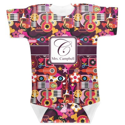 Abstract Music Baby Bodysuit (Personalized)