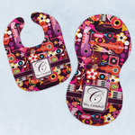 Abstract Music Baby Bib & Burp Set w/ Name and Initial