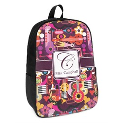 Abstract Music Kids Backpack (Personalized)