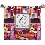 Abstract Music Full Print Bath Towel (Personalized)