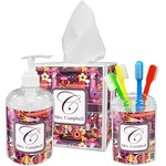 Abstract Music Acrylic Bathroom Accessories Set w/ Name and Initial