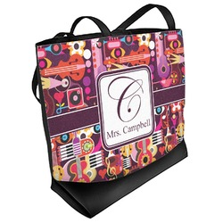 Abstract Music Beach Tote Bag (Personalized)