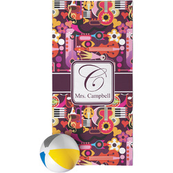 Abstract Music Beach Towel (Personalized)