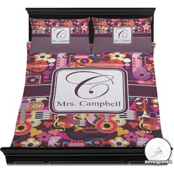 Abstract Music Duvet Cover Set (Personalized)