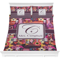 Abstract Music Comforter Set (Personalized)