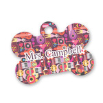 Abstract Music Bone Shaped Dog Tag (Personalized)