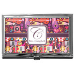 Abstract Music Business Card Case