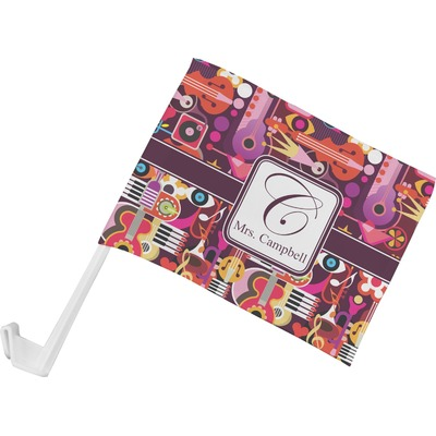 Abstract Music Car Flag (Personalized)