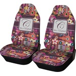 Abstract Music Car Seat Covers (Set of Two) (Personalized)