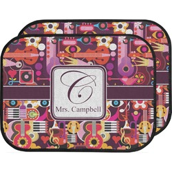 Abstract Music Car Floor Mats (Back Seat) (Personalized)