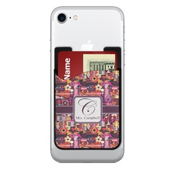 Abstract Music 2-in-1 Cell Phone Credit Card Holder & Screen Cleaner (Personalized)