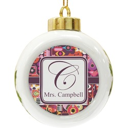 Abstract Music Ceramic Ball Ornament (Personalized)