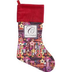 Abstract Music Christmas Stocking (Personalized)