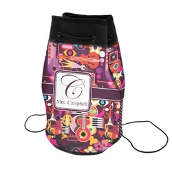 Abstract Music Neoprene Drawstring Backpack (Personalized)
