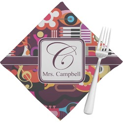 Abstract Music Napkins (Set of 4) (Personalized)