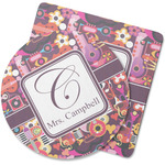 Abstract Music Rubber Backed Coaster (Personalized)