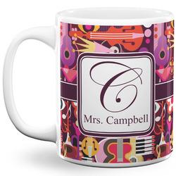 Abstract Music 11 Oz Coffee Mug - White (Personalized)
