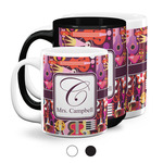 Abstract Music Coffee Mugs (Personalized)