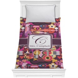 Abstract Music Comforter - Twin (Personalized)