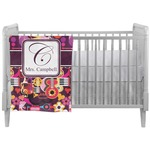 Abstract Music Crib Comforter / Quilt (Personalized)