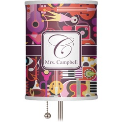 "Abstract Music 7"" Drum Lamp Shade (Personalized)"