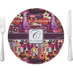 """Abstract Music Glass Lunch / Dinner Plates 10"""" - Single or Set (Personalized)"""