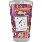 Abstract Music Drinking / Pint Glass (Personalized)
