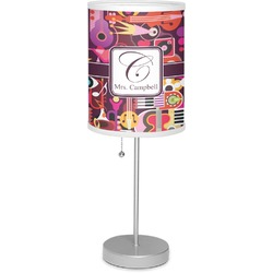 """Abstract Music 7"""" Drum Lamp with Shade Linen (Personalized)"""