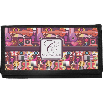 Abstract Music Canvas Checkbook Cover (Personalized)