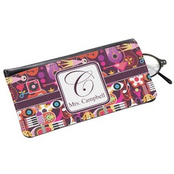 Abstract Music Genuine Leather Eyeglass Case (Personalized)