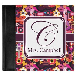 Abstract Music Genuine Leather Baby Memory Book (Personalized)