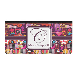 Abstract Music Genuine Leather Checkbook Cover (Personalized)
