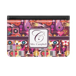 Abstract Music Genuine Leather ID & Card Wallet - Slim Style (Personalized)