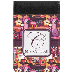 Abstract Music Genuine Leather Small Memo Pad (Personalized)