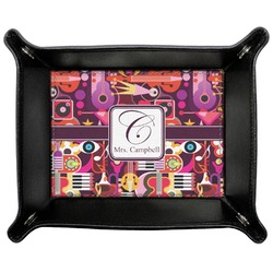 Abstract Music Genuine Leather Valet Tray (Personalized)