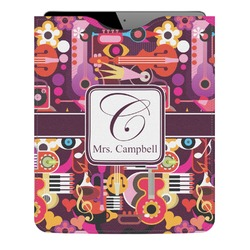 Abstract Music Genuine Leather iPad Sleeve (Personalized)