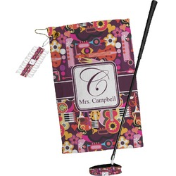 Abstract Music Golf Towel Gift Set (Personalized)