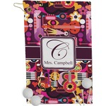 Abstract Music Golf Towel - Full Print (Personalized)