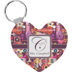 Abstract Music Heart Keychain (Personalized)