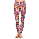 Abstract Music Ladies Leggings (Personalized)