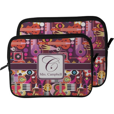 Abstract Music Laptop Sleeve / Case (Personalized)