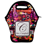Abstract Music Lunch Bag w/ Name and Initial