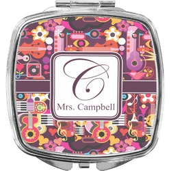 Abstract Music Compact Makeup Mirror (Personalized)