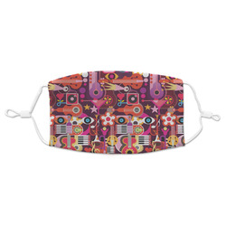 Abstract Music Adult Cloth Face Mask (Personalized)