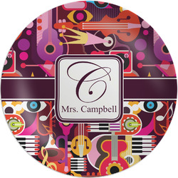 Abstract Music Melamine Plate (Personalized)