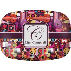 Abstract Music Melamine Platter (Personalized)