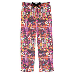 Abstract Music Mens Pajama Pants (Personalized)